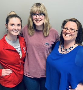 Here's three of our finest traveler experience team members! Haley Porter, Jen Klaudt and Christine Stogdill